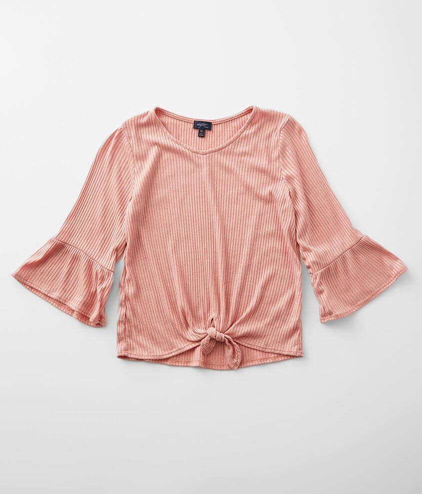 Girls - Daytrip Ribbed Knit Top front view