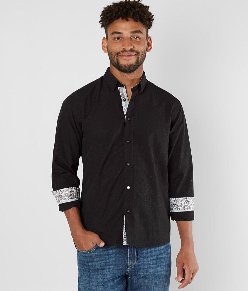 Eight X Tonal Embroidered Shirt front view