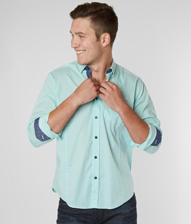 Eight X Circle Print Stretch Shirt