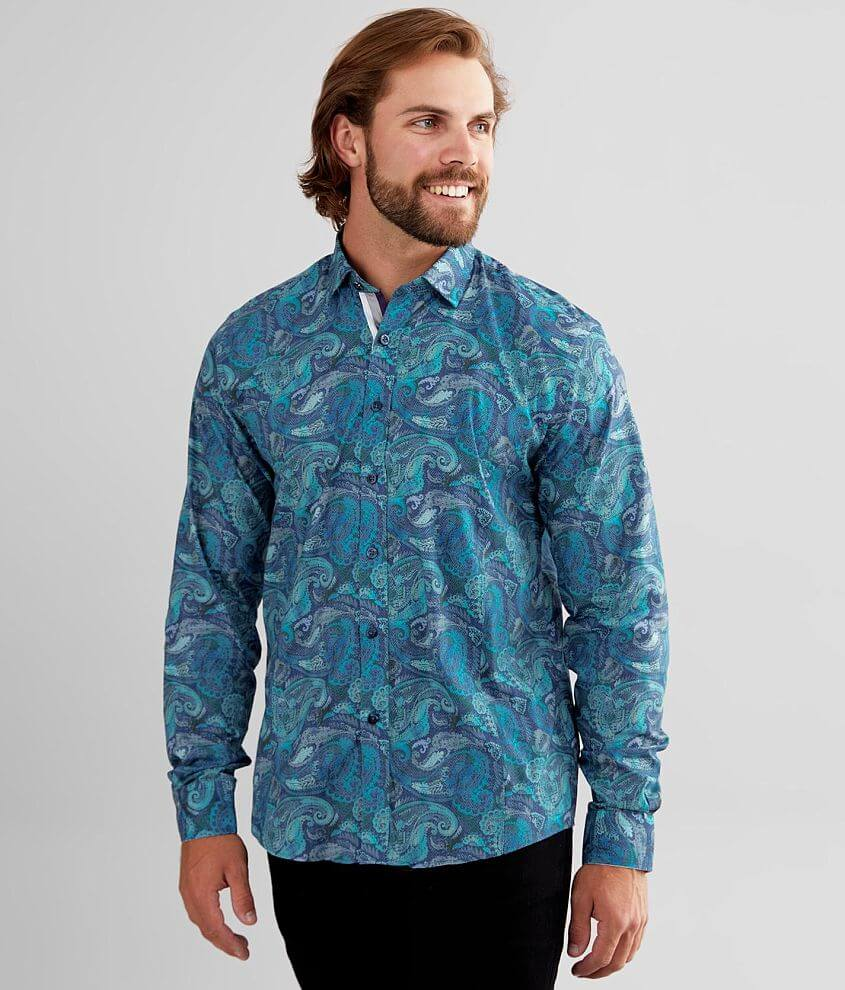 Eight X Paisley Stretch Shirt front view