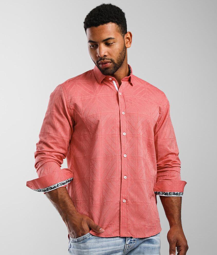 Eight X Textured Jacquard Shirt front view