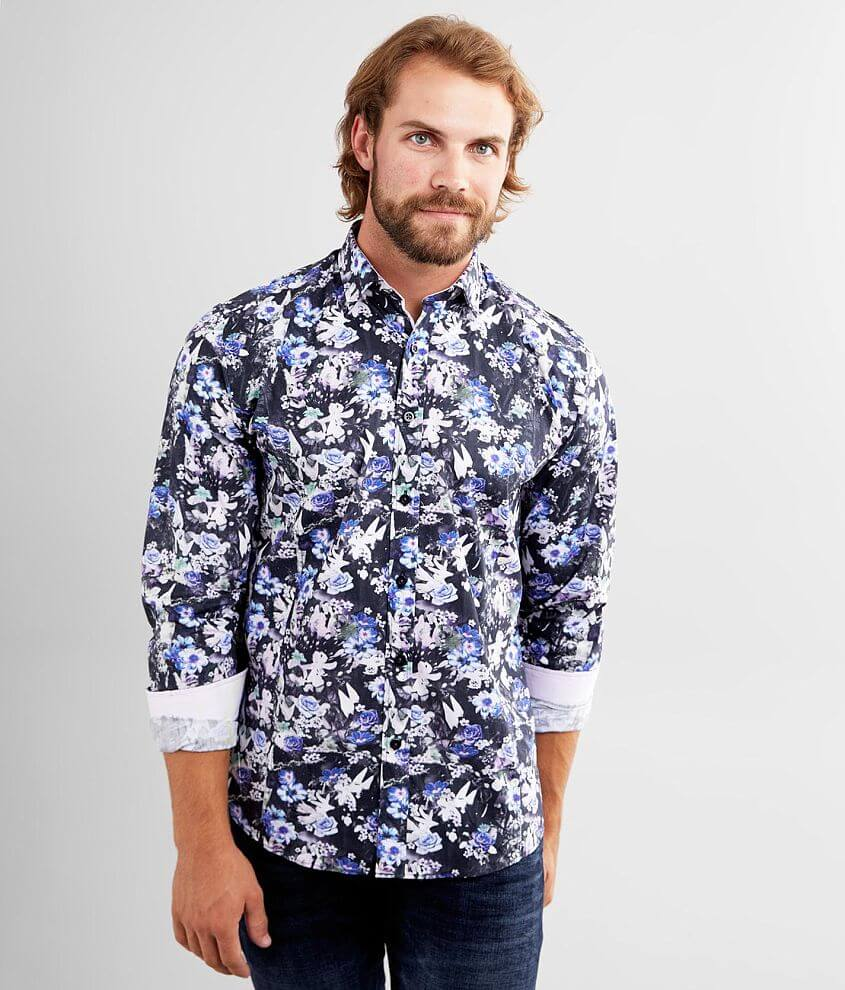 Eight X Woven Floral Shirt front view