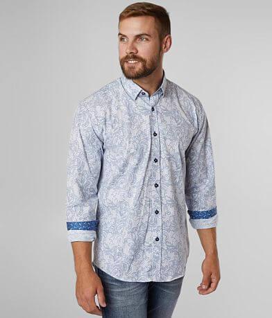 Eight X Textured Floral Stretch Shirt