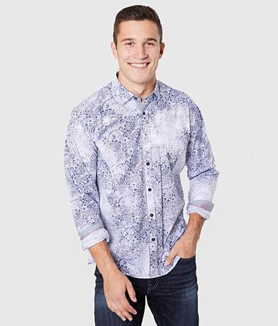 Eight X Paisley Printed Stretch Shirt