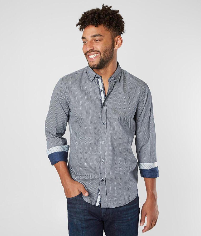Eight X Polka Dot Woven Shirt front view