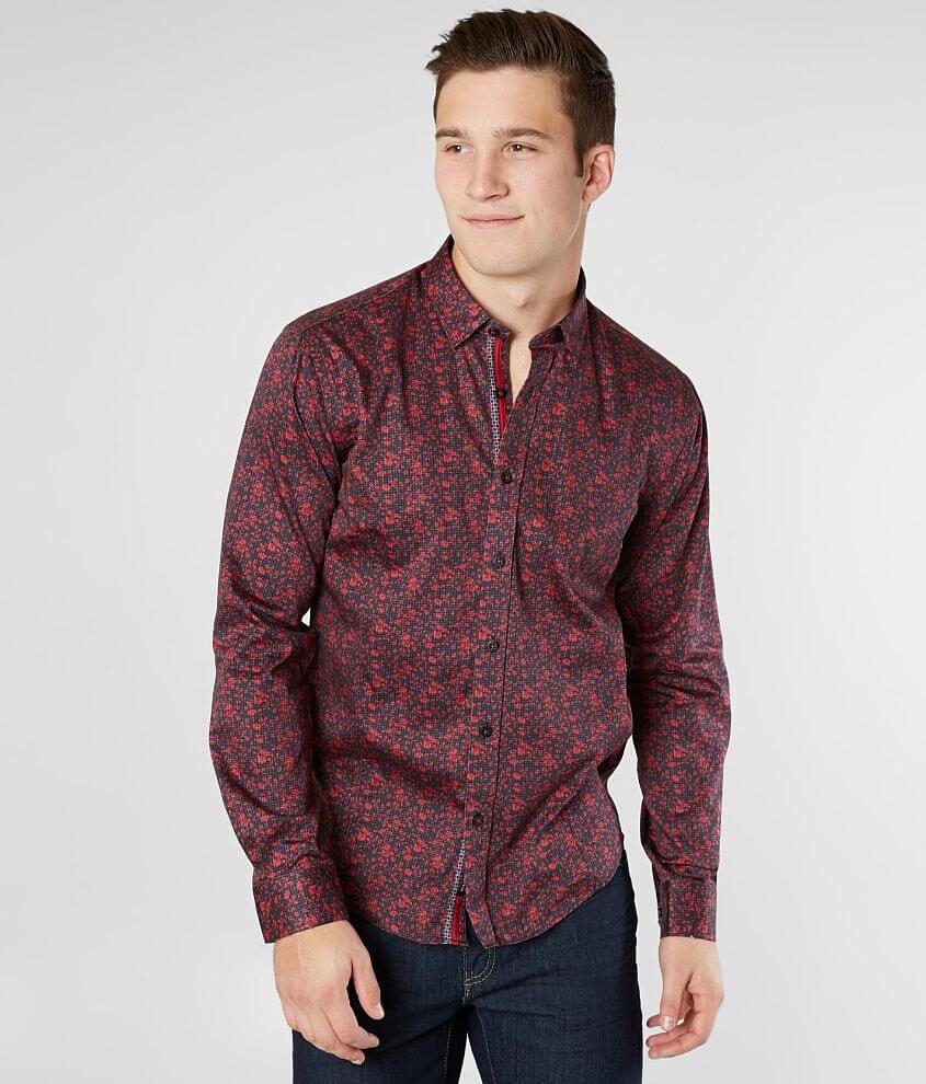 Eight X Floral Polka Dot Shirt front view