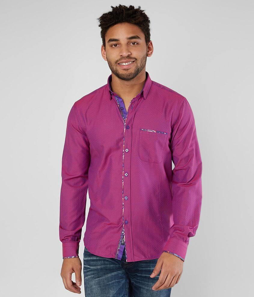 Eight X Iridescent Woven Shirt front view