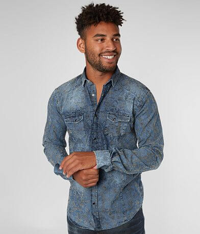 Eight X Flocked Chambray Shirt