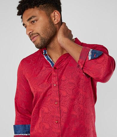 Eight X Paisley Jacquard Shirt