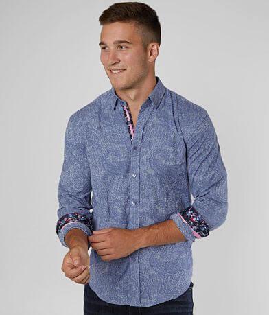 Eight X Striped Print Stretch Shirt