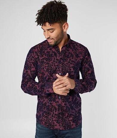 Eight X Flocked Paisley Shirt