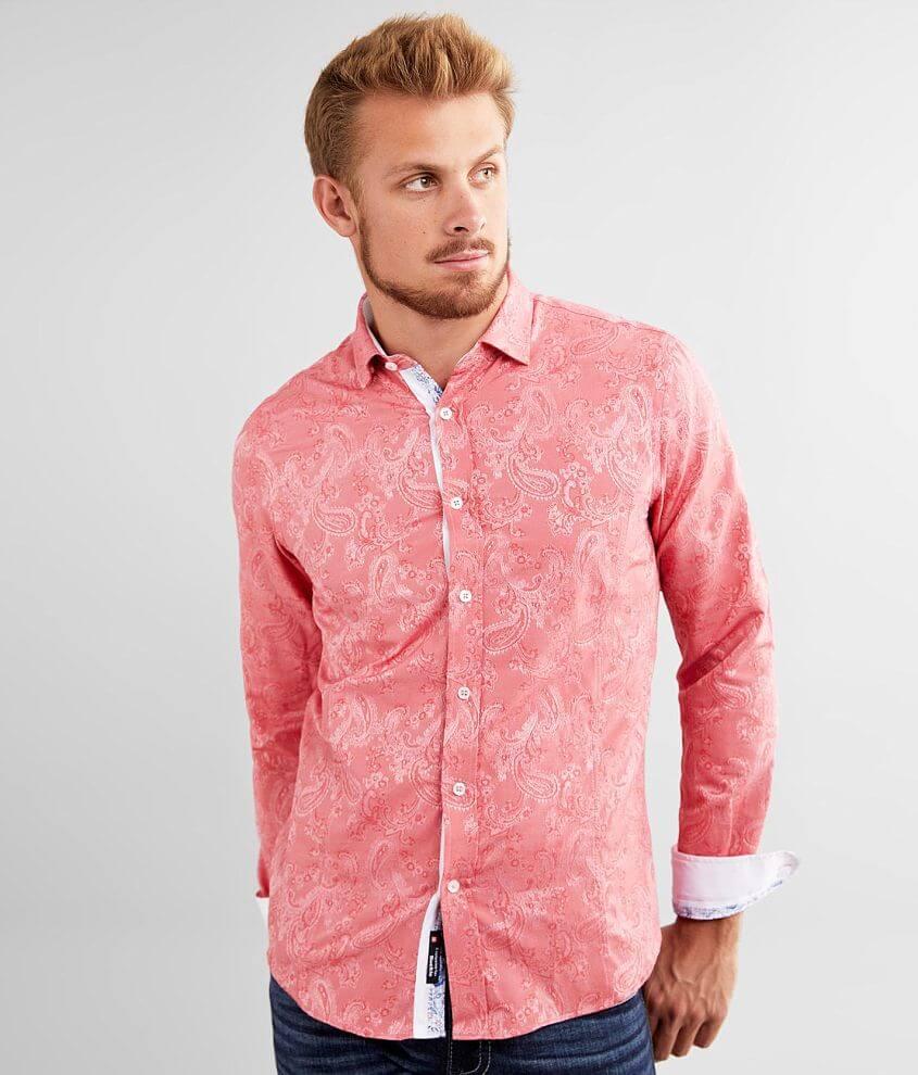 Eight X Paisley Jacquard Shirt front view