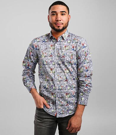Eight X Floral Color Drop Stretch Shirt