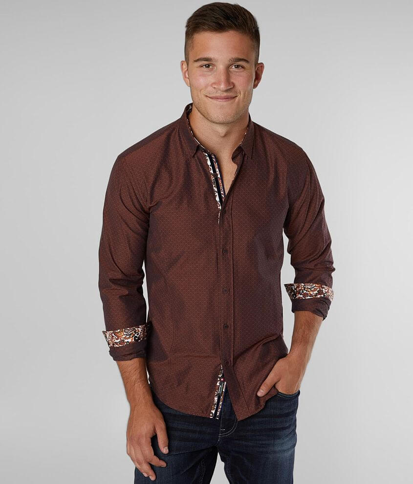 Eight X Honeycomb Woven Shirt front view