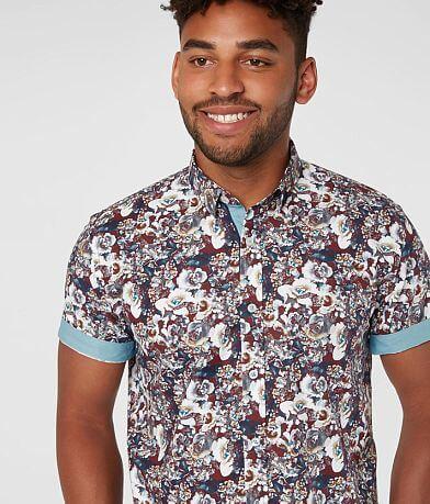Eight X Floral Print Stretch Shirt