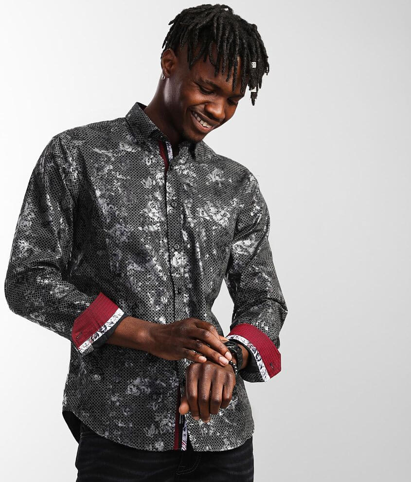 Eight X Foiled Floral Shirt front view