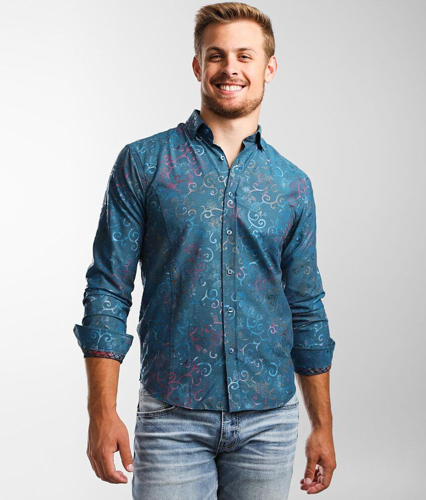 Eight X Textured Floral Shirt front view