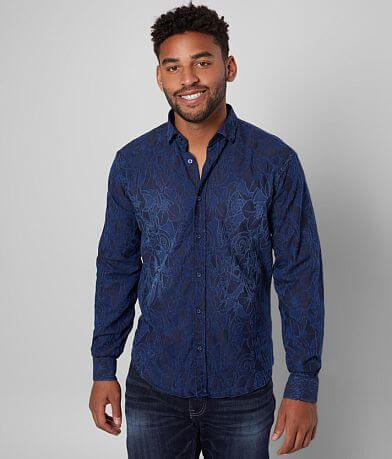 Eight X Washed Chambray Stretch Shirt