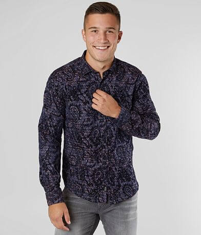 Eight X Flocked Jacquard Shirt