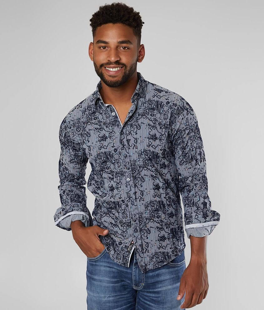 Eight X Flocked Stretch Shirt front view