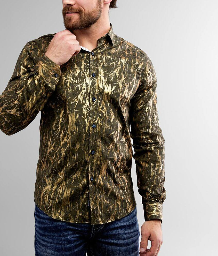 Eight X Metallic Stretch Shirt front view