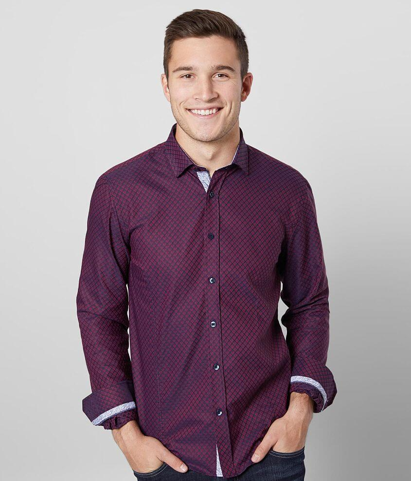 Eight X Woven Jacquard Shirt front view