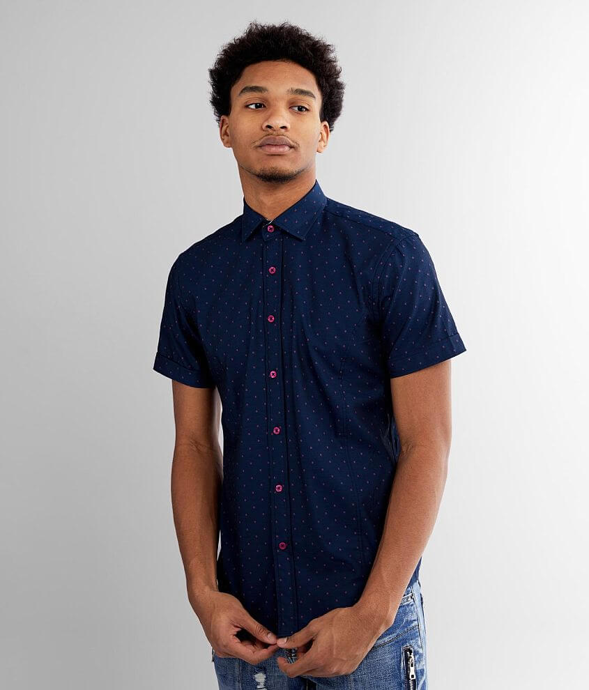 Eight X Geo Printed Shirt front view