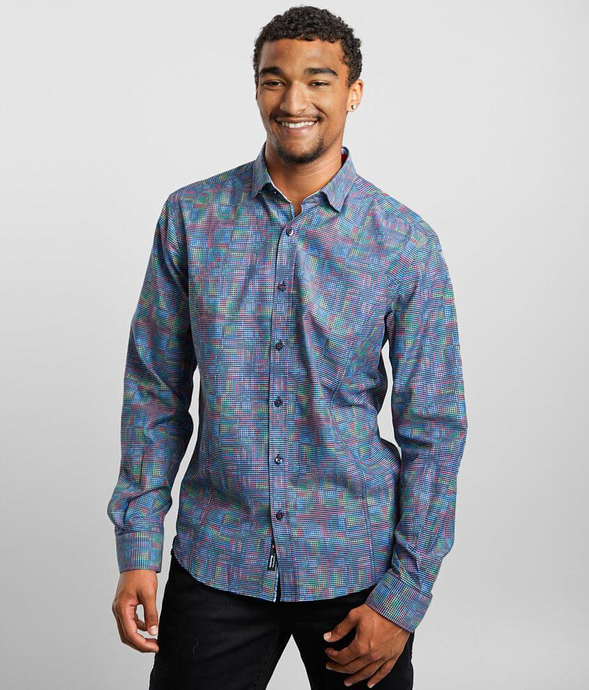 Eight X Neon Grid Jacquard Shirt front view