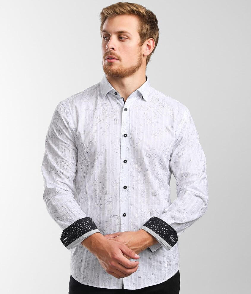 Eight X Foiled Floral Print Shirt front view