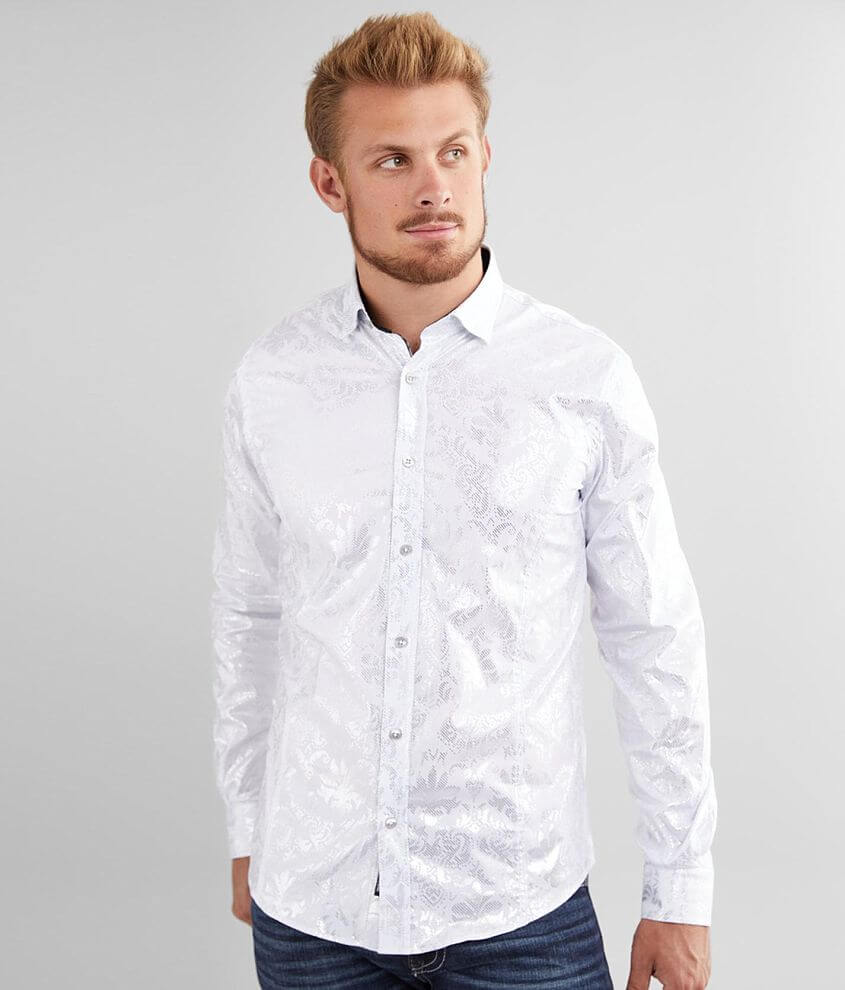 Eight X Foiled Baroque Stretch Shirt front view