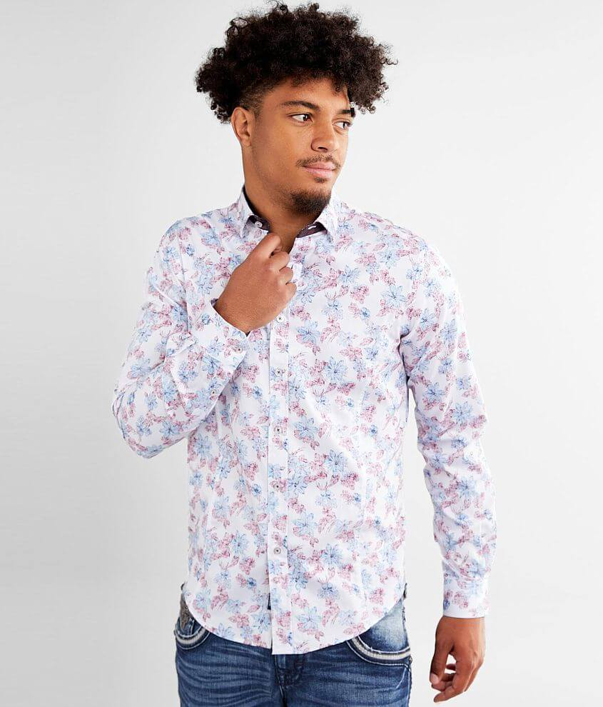 Eight X Washed Floral Shirt front view