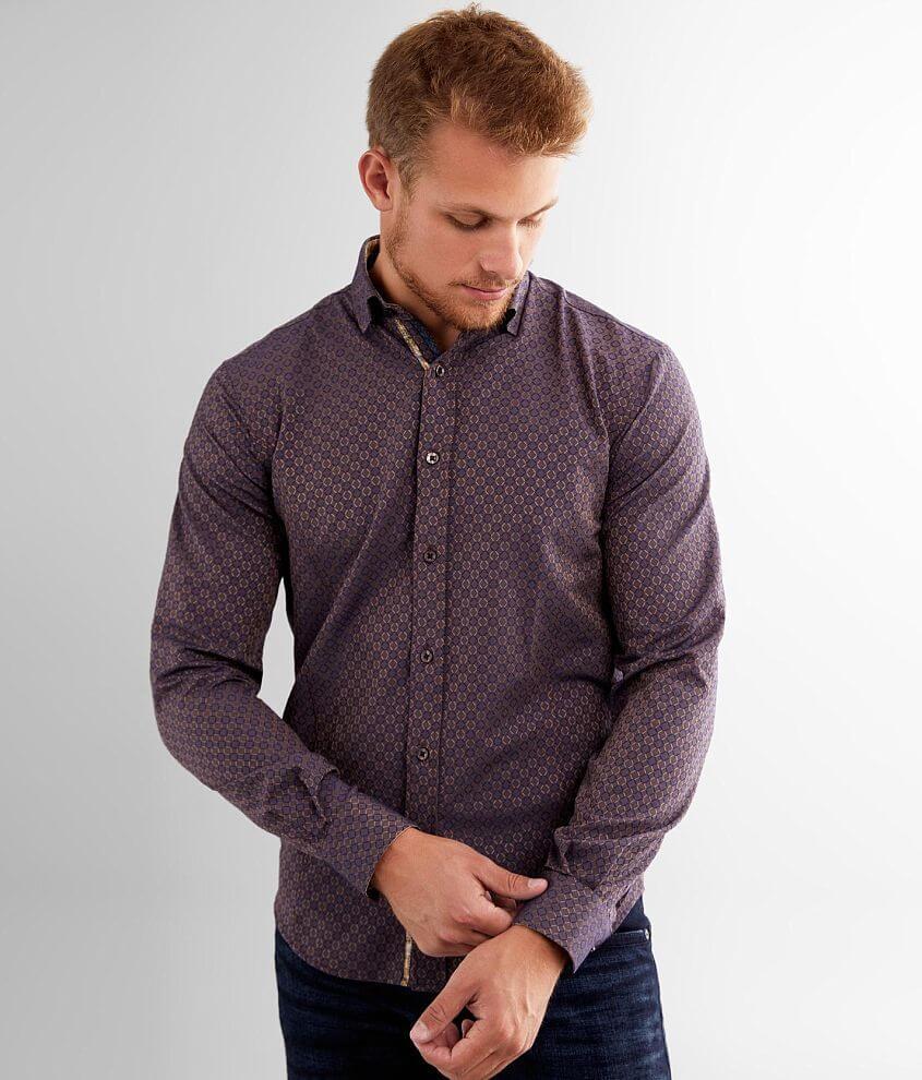 Eight X Geometric Jacquard Shirt front view