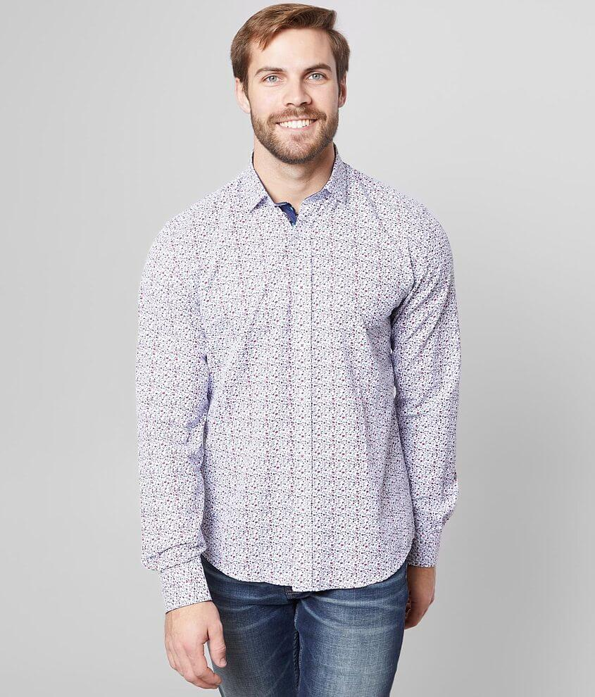 Eight X Woven Tiny Floral Print Shirt front view