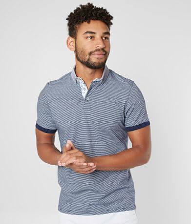 Eight X Striped Polo