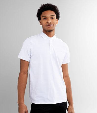 Eight X Tonal Flocked Stretch Polo