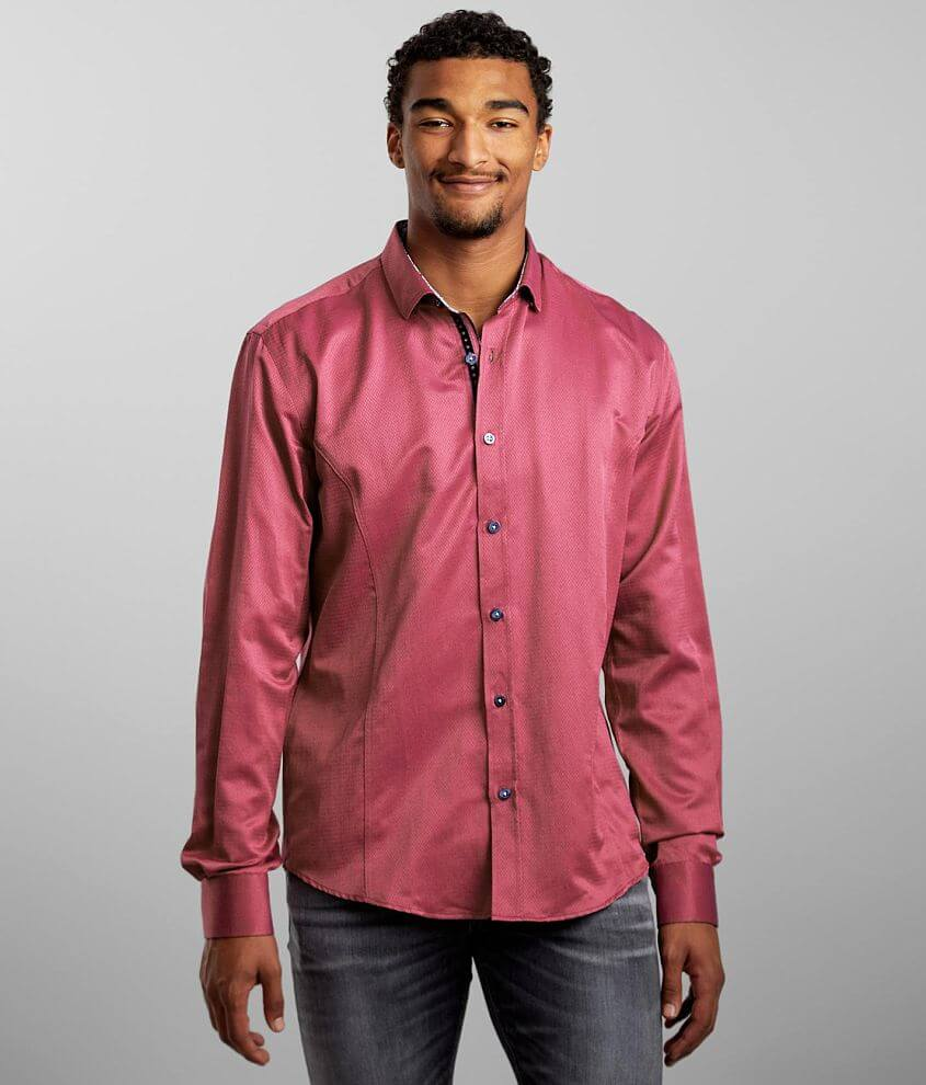 Eight X Solid Jacquard Shirt front view