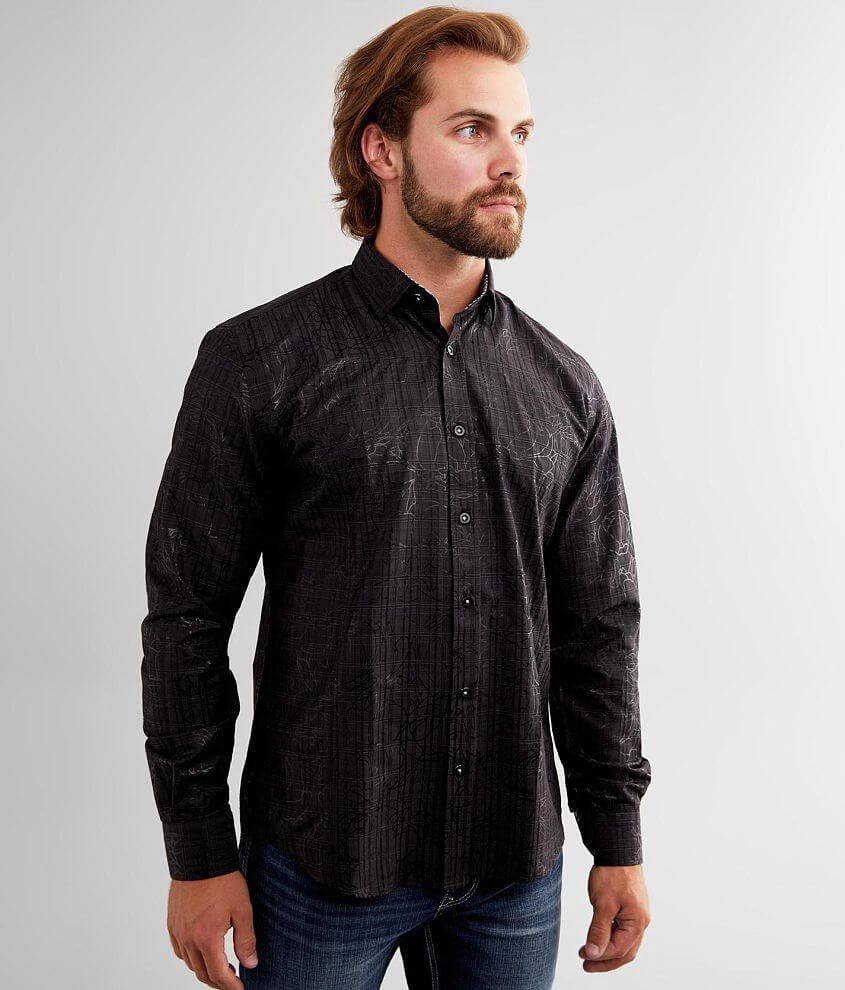 Eight X Tonal Floral Shirt front view