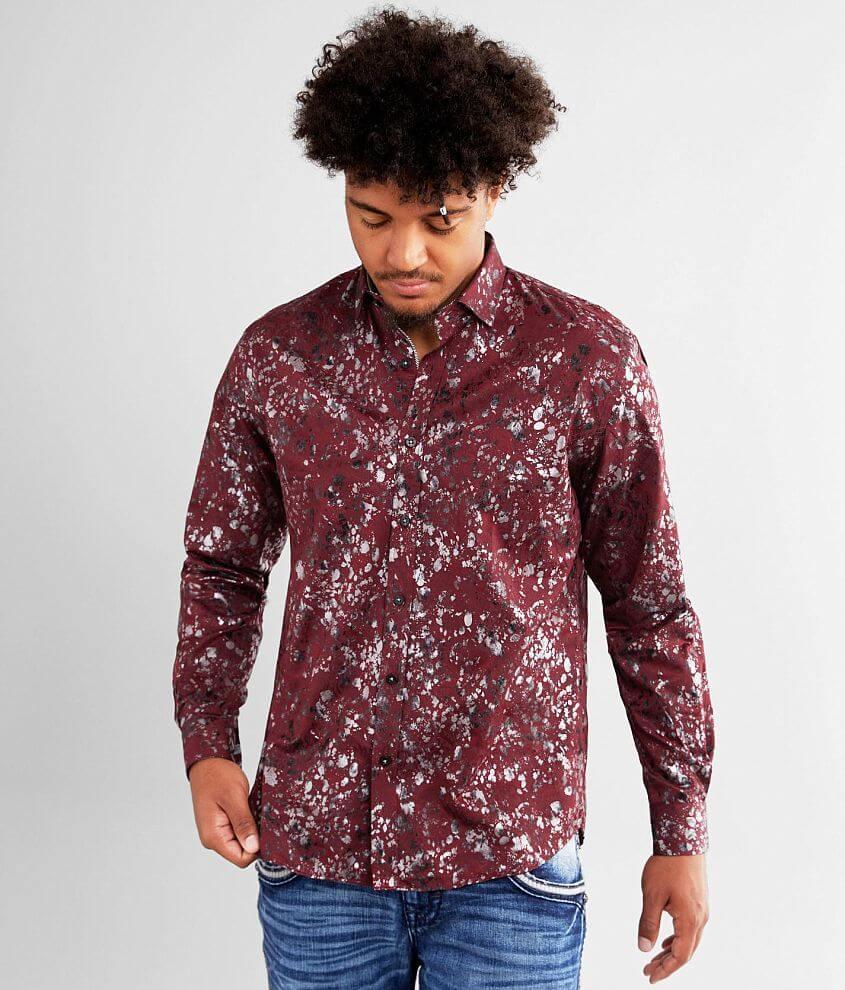 Eight X Paisley & Foil Shirt front view