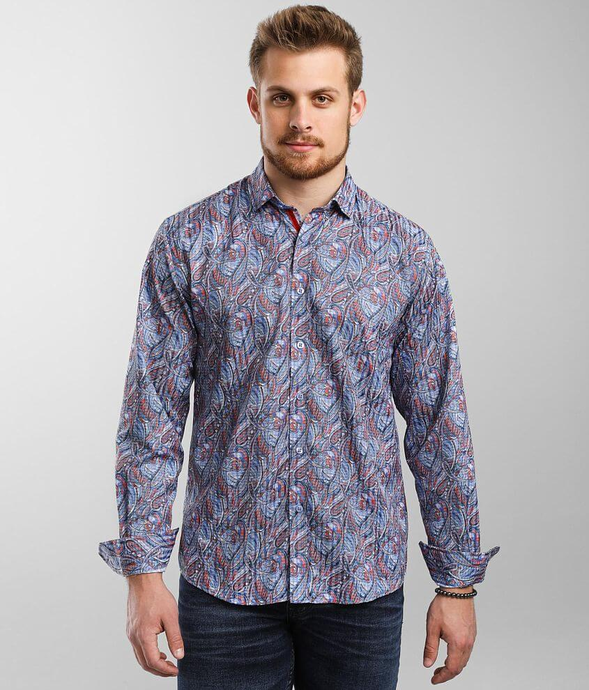 Eight X Paisley Striped Shirt front view