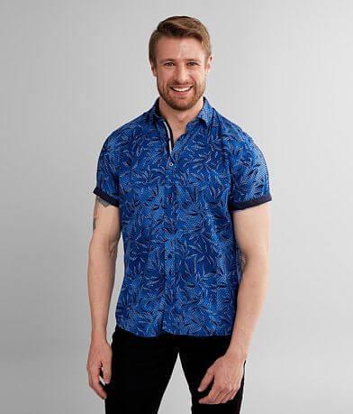 Eight X Flocked Polka Dot Shirt