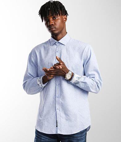 Eight X Criss Cross Jacquard Shirt