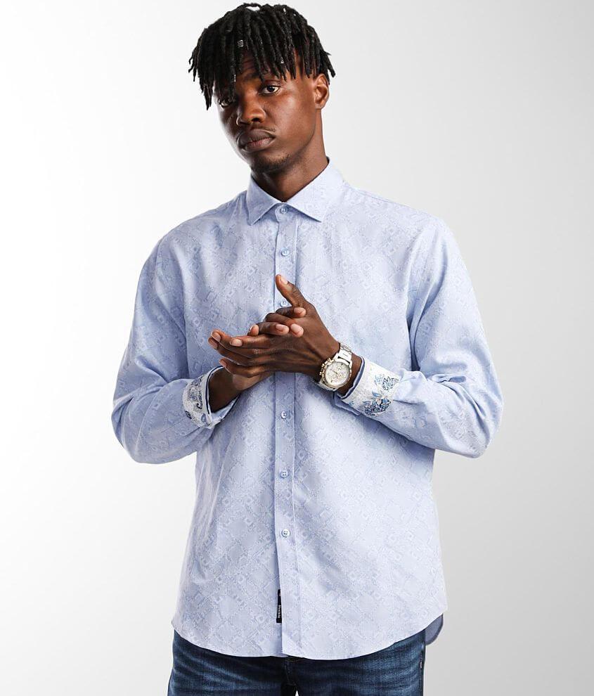 Eight X Criss Cross Jacquard Shirt front view