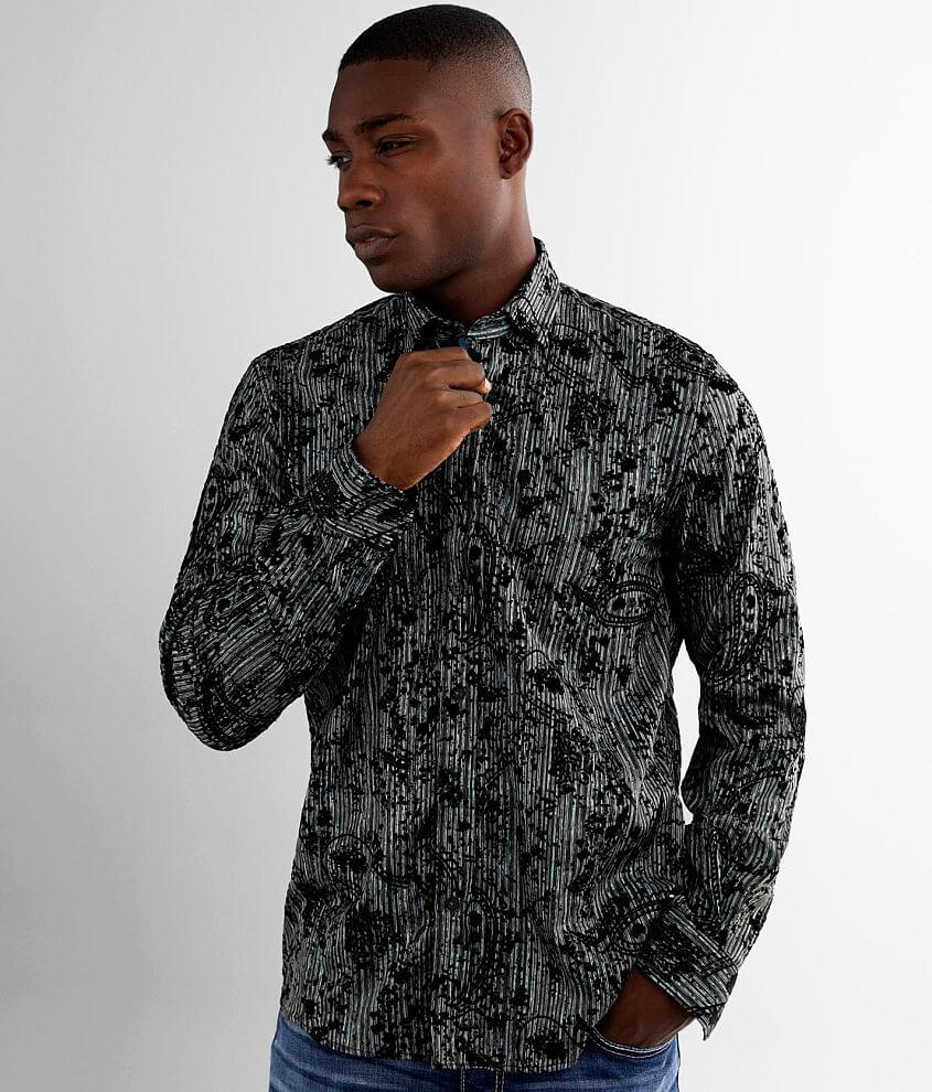 Eight X Flocked Shirt front view