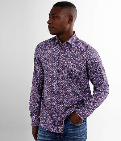 Eight X Printed Modal Blend Stretch Shirt