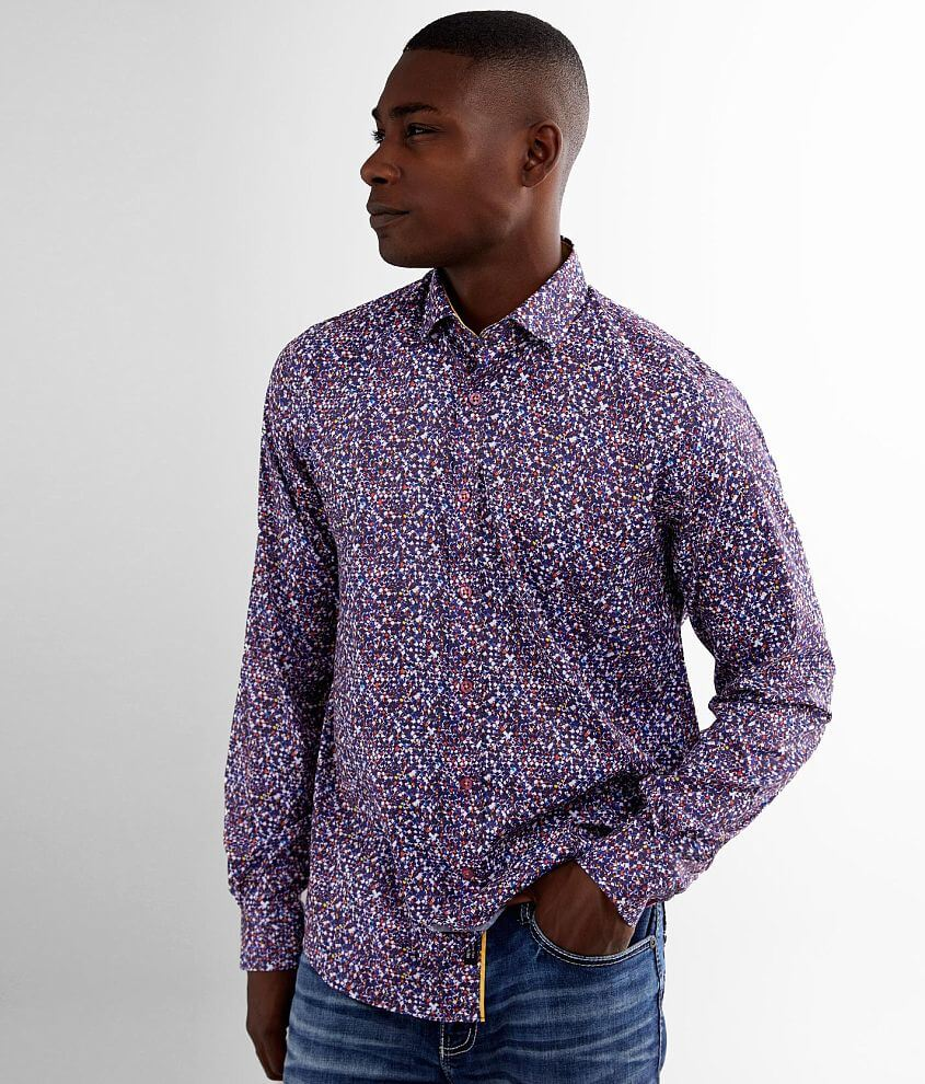 Eight X Printed Modal Blend Stretch Shirt front view