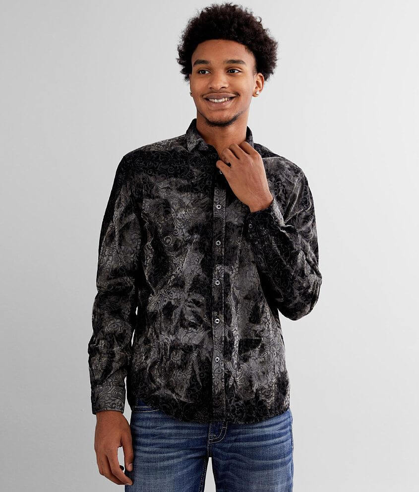 Eight X All-Over Flocked Shirt front view