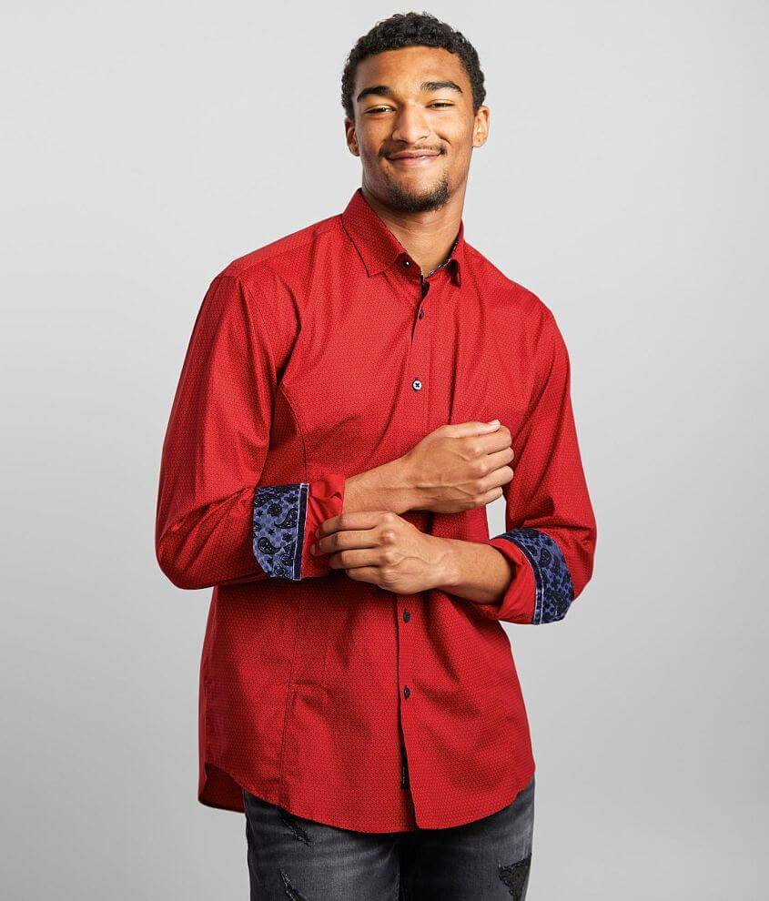 Eight X Geo Print Stretch Shirt front view