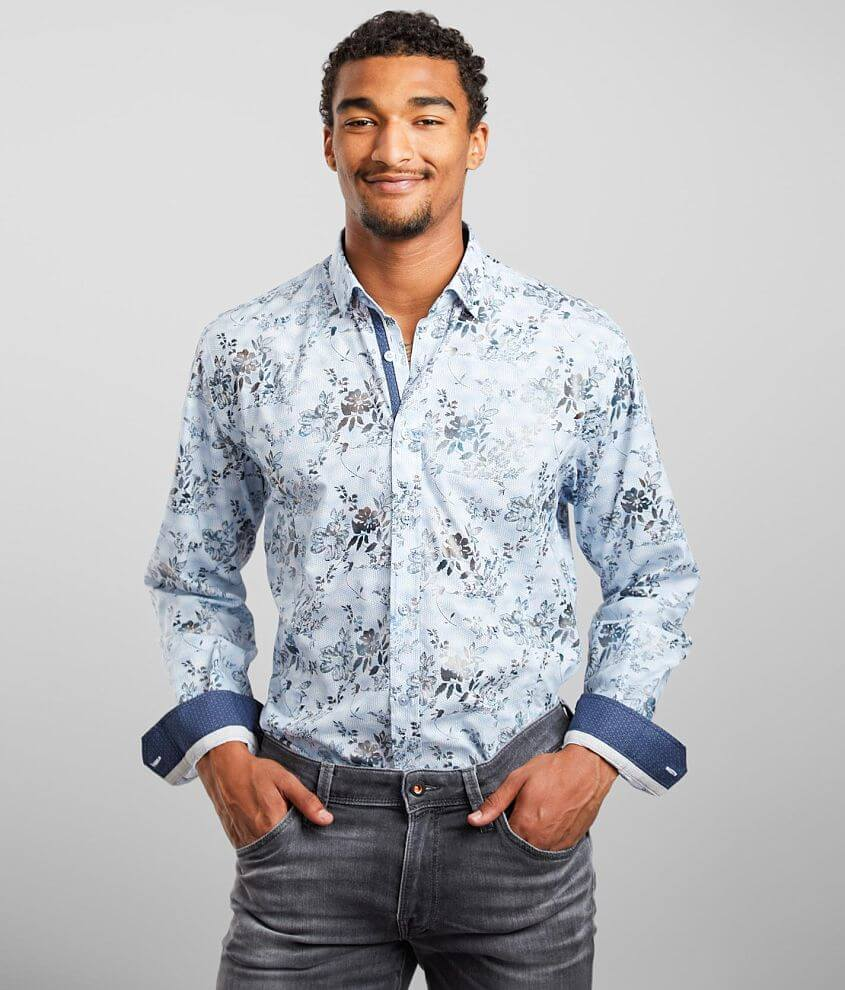 Eight X Floral Print Shirt front view