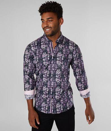 Eight X Floral Kaleidescope Stretch Shirt
