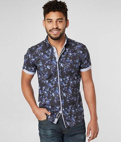 Eight X Floral Print Stretch Shirt